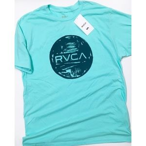 RVCA Motors Ink Mint Shirt NWT